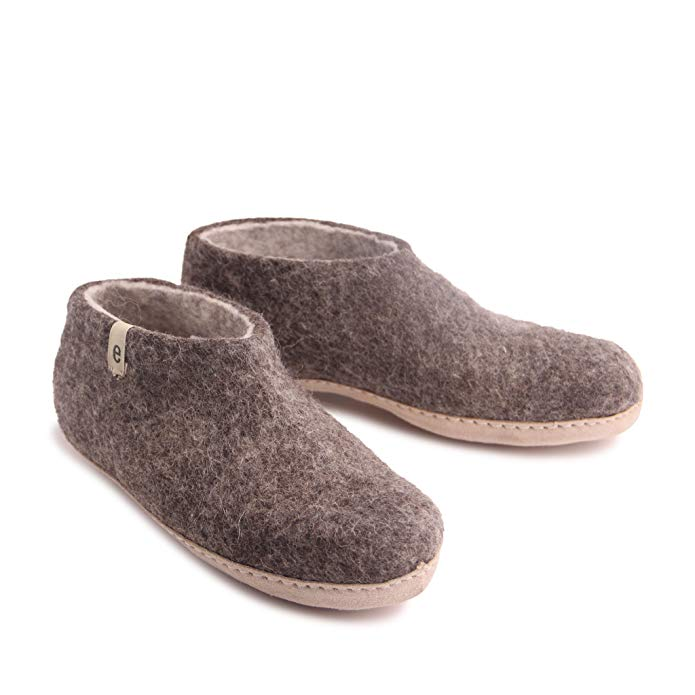 Felted Wool Slippers Classic Style Bedroom Slippers For